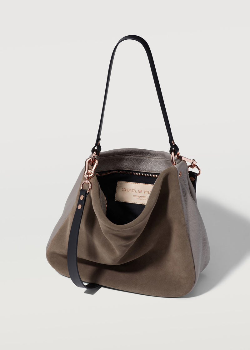 Taupe Two Tone Billie Shoulder Bag