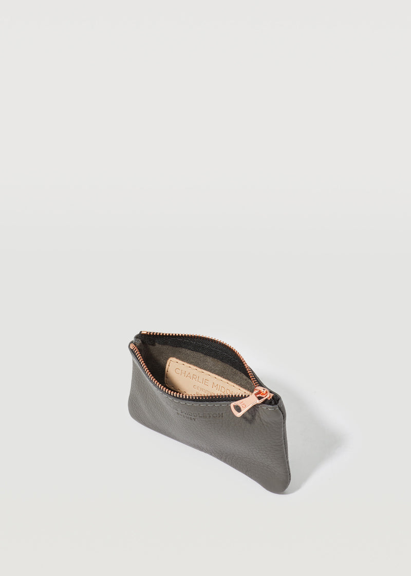 Grey Nappa Coin Purse