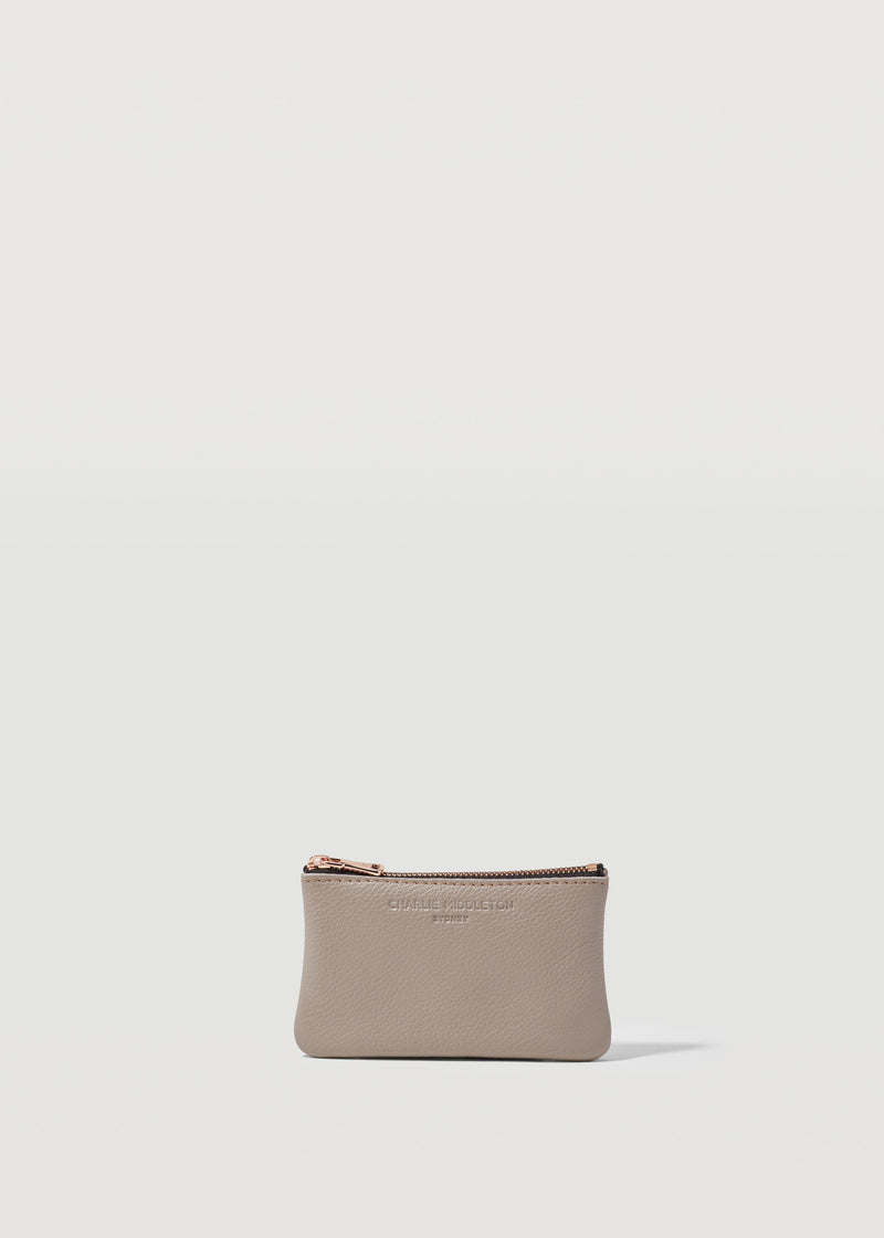 Taupe Vogue Coin Purse