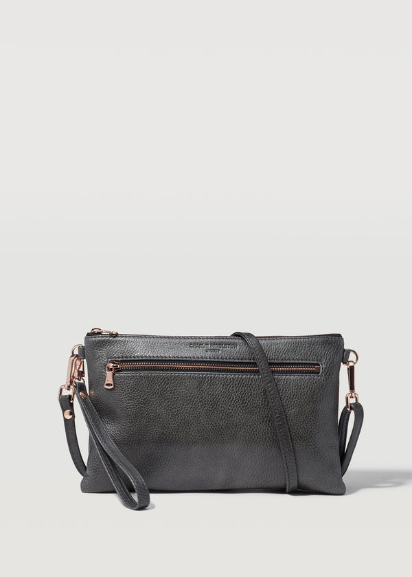 Slate Dual Zip Crossbody