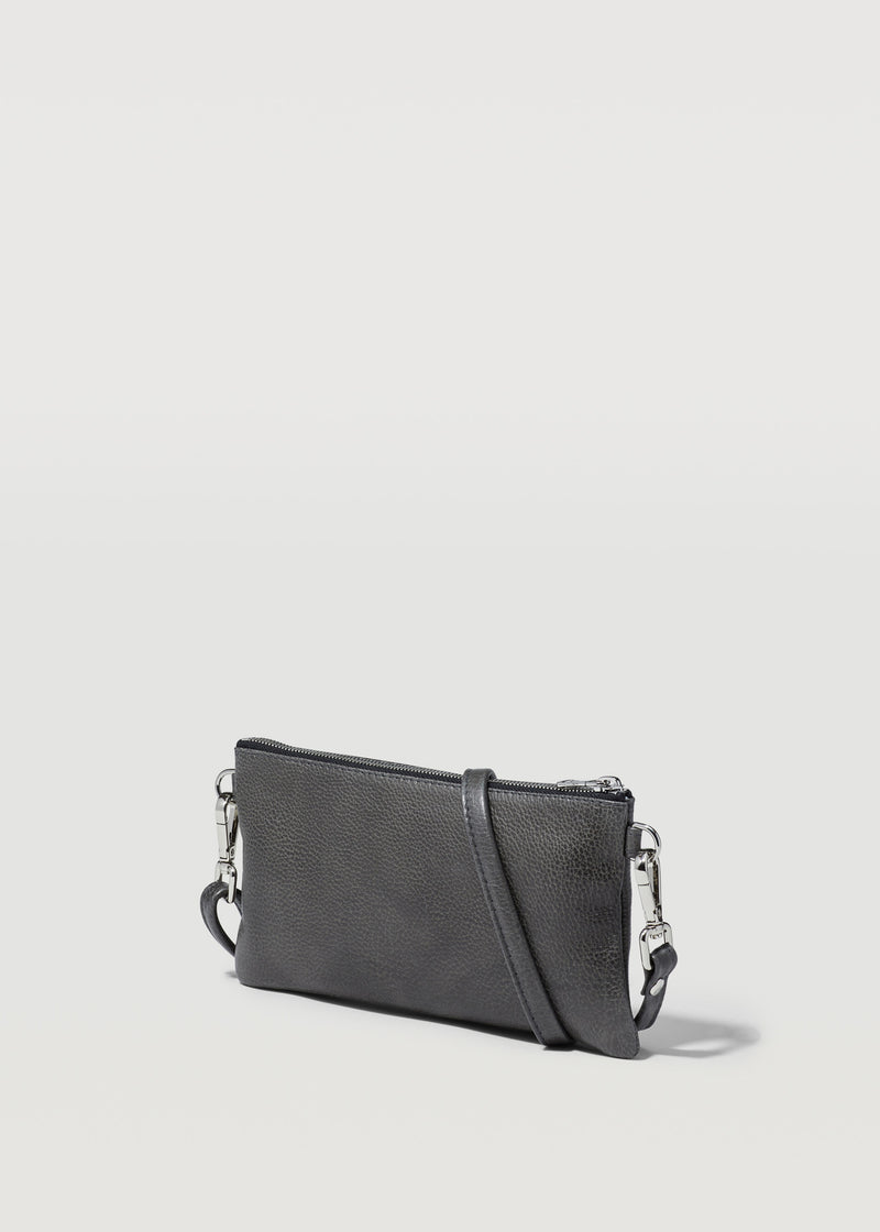 Slate Mini Dual Zip Crossbody