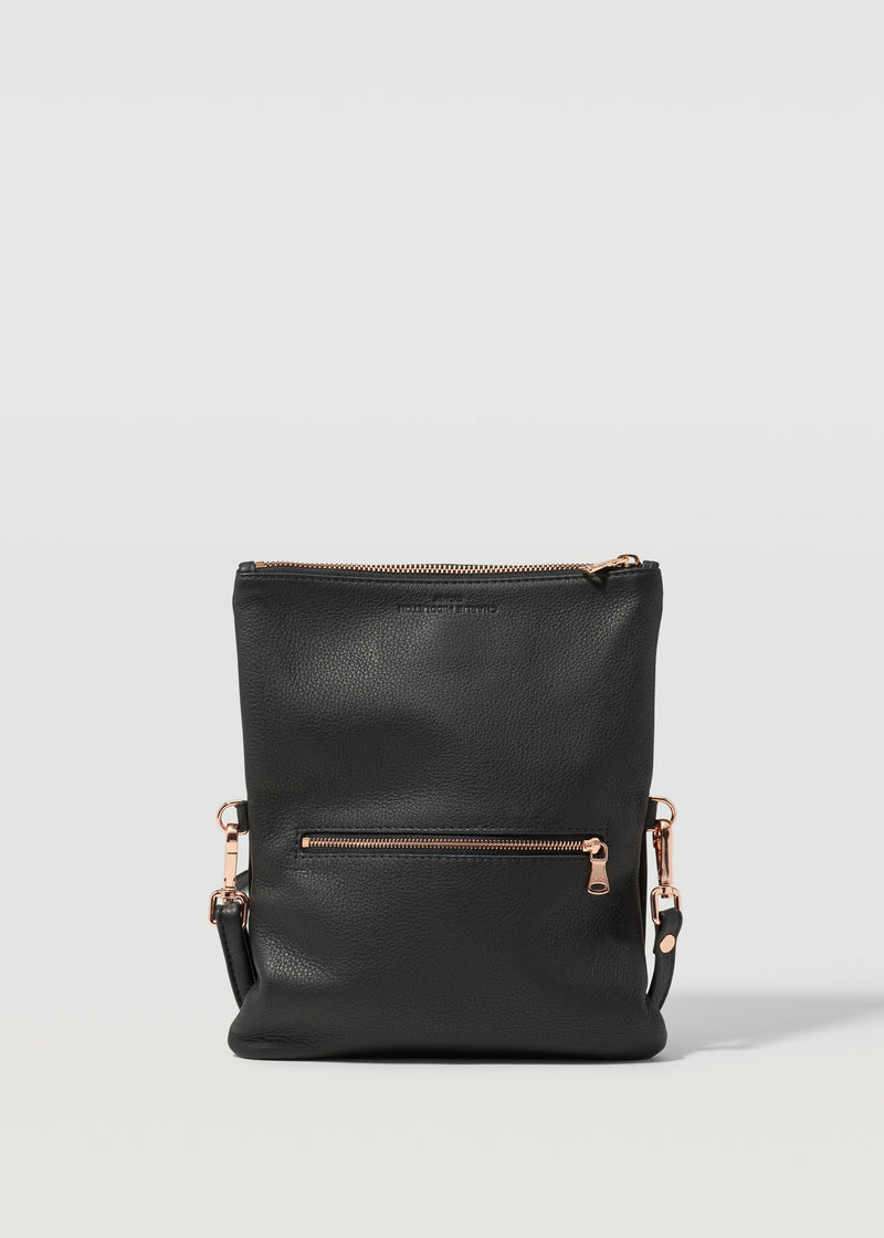 Black Two Tone Mini Weekend Crossbody