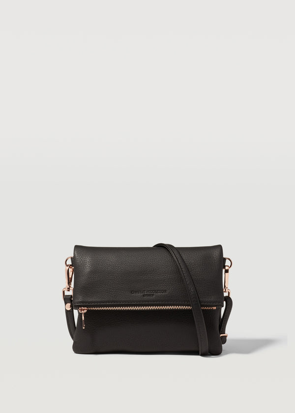 Black Nappa Mini Weekend Crossbody