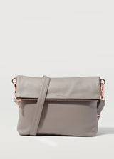 Taupe Vogue Fold Over Satchel