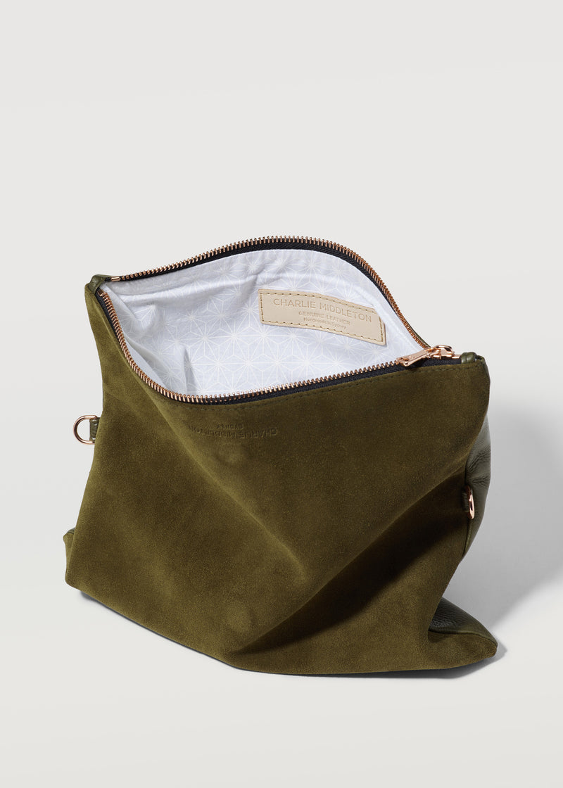 Seaweed Two Tone Weekend Crossbody