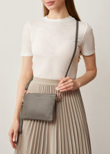 Grey Nappa Essentials Crossbody