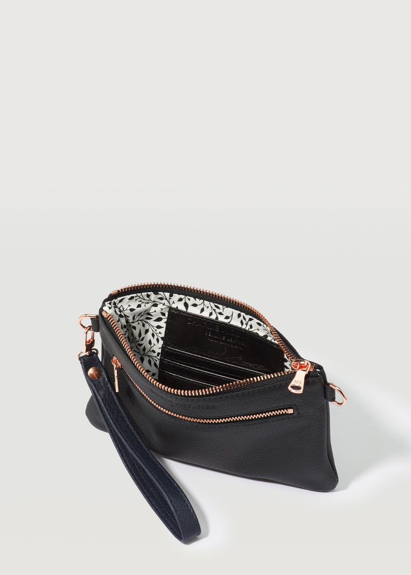Black Nappa London Clutch