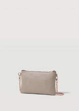 Taupe Vogue London Clutch