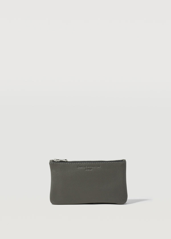 Grey Nappa Mini Pochette