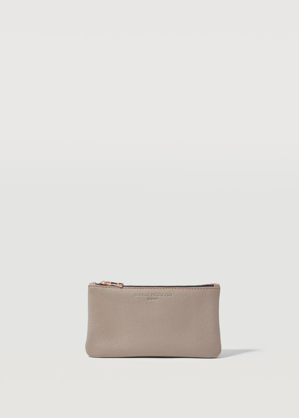 Taupe Vogue Mini Pochette