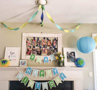 decor for a first birthday party- frogs, snails, and puppy dog tails themed