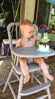 frogs smash cake for a frogs, snails, and puppy dog tails themed first birthday party