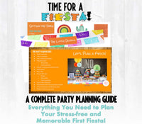 No time to siesta it's your baby boy's first fiesta! This fiesta themed first birthday party planning guide and checklist has everything you need to host a stress-free and memorable fiesta first birthday party for your little one. This plan helps you save time, stress, and money so you can focus on what really matters- making memories and having fun at your party! Let's plan a party you'll actually enjoy hosting! Complete party plan and checklist from Allison Carter Celebrates