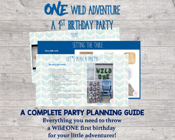 Your stress-free guide to hosting a memorable Wild One first birthday party. Everything you need to host, while saving you time, stress, and money. Planning a party has never been easier...or more fun!