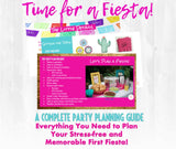 No time to siesta it's your baby girl's first fiesta! This fiesta themed first birthday party planning guide and checklist has everything you need to host a stress-free and memorable fiesta first birthday party for your little one. This plan helps you save time, stress, and money so you can focus on what really matters- making memories and having fun at your party! Let's plan a party you'll actually enjoy hosting! Complete party plan and checklist from Allison Carter Celebrates