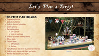 Ahoy matey! We've got a birthday to celebrate! This fun Pirate themed birthday party planning guide and checklist has everything you need to host a stress-free and memorable swash-buckling pirate birthday party for your little one. This plan helps you save time, stress, and money so you can focus on what really matters- making memories and having fun at your party! Let's plan a party you'll actually enjoy hosting! See the full party plan at allisoncartercelebrates.com