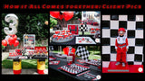 Rev your engines! This party planning guide and checklist has everything you need to save timne hosting a stress-free, memorable Race Car themed birthday for your little car lover. This plan helps you save time, stress, and money so you can focus on what really matters- making memories and having fun at your party! Download complete party planning guide and checklist at allisoncartercelebrates.com