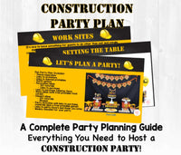 Caution! Party ahead! This birthday party planning guide and checklist has everything you need to host a stress-free and memorable construction themed birthday party for your little girl. This plan helps you save time, stress, and money so you can focus on what really matters- making memories and having fun at your party! Let's plan a party you'll actually enjoy hosting!
