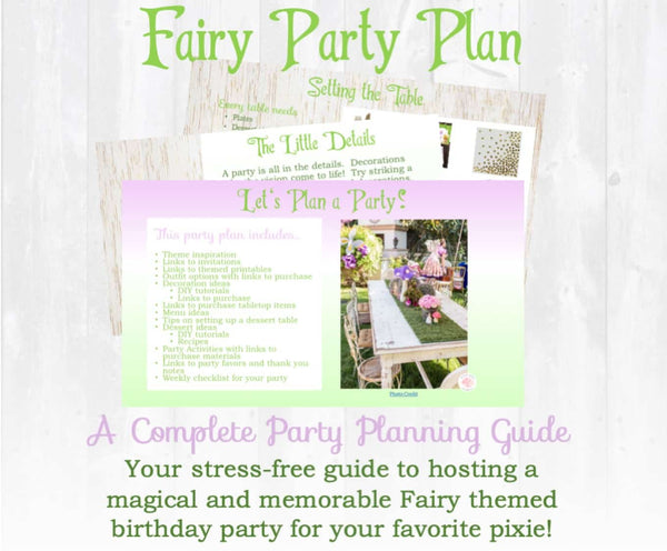 Never grow up! This adorable Tinkerbell Fairy birthday party planning guide and checklist has everything you need to host a stress-free and memorable fairy themed birthday party for your little pixie. This plan helps you save time, stress, and money so you can focus on what really matters- making memories and having fun at your party! Let's plan a party you'll actually enjoy hosting! Complete party planning guide and checklist from Allison Carter Celebrates