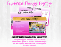 Grab your girlfriends! This Favorite Things Party planning guide and checklist has everything you need to host a FUN, stress-free and memorable Favorite Things themed girls night out for your favorite girlfriends or mom tribe. This plan helps you save time, stress, and money so you can focus on what really matters- making memories and having fun at your party! Download complete shower planning guide and checklist at allisoncartercelebrates.com