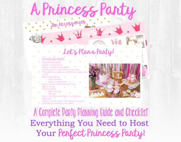 It's time for a Royal Celebration! This beautiful princess birthday party planning guide and checklist has everything you need to host a stress-free and memorable princess birthday party for your little girl. This plan helps you save time, stress, and money so you can focus on what really matters- making memories and having fun at your party! Let's plan a party you'll actually enjoy hosting! Complete party planning guide and checklist from Allison Carter Celebrates