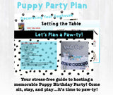 Come sit, stay, play and pawty at this adorable Puppy Birthday Party! This party planning guide and checklist has everything you need to host a stress-free memorable puppy themed birthday for your little one. This plan helps you save time, stress, and money so you can focus on what really matters- making memories and having fun at your party!Come sit, stay, play and pawty at this adorable Puppy Birthday Party! This party planning guide and checklist has everything you need to host a stress-free memorable...