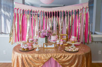 Princess Birthday Party Dessert Table: from the princess party planning guide and checklist- everything you need, including all links to purchase to help you host a stress-free party for your little princess!