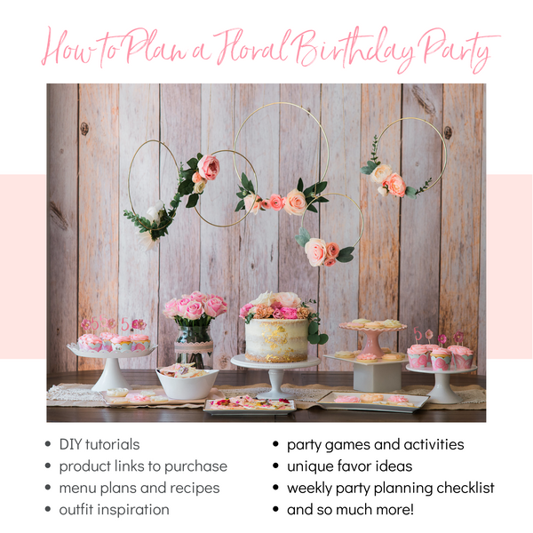 Boho Flower Birthday Party Plan