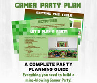 Let's build a birthday party together! This party planning guide and checklist has everything you need to host a stress-free memorable Minecraft themed birthday for your little builder. This plan helps you save time, stress, and money so you can focus on what really matters- making memories and having fun at your party!