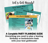 Time to get nauti! This party planning guide and checklist has everything you need to host a FUN and stress-free memorable nautical boating themed birthday for your friend or bachelorette in your life. This plan helps you save time, stress, and money so you can focus on what really matters- making memories and having fun at your party!