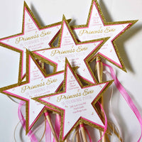 DIY Princess party invites from the princess party planning guide and checklist- everything you need, including all links to purchase to help you host a stress-free party for your little princess!