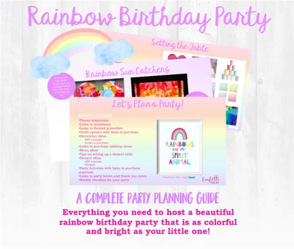 Rainbow Birthday Party Plan