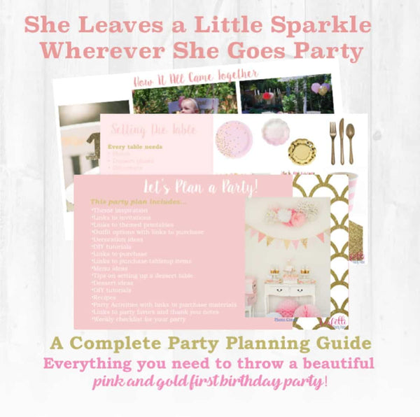 Pink and Gold First Birthday Party Plan