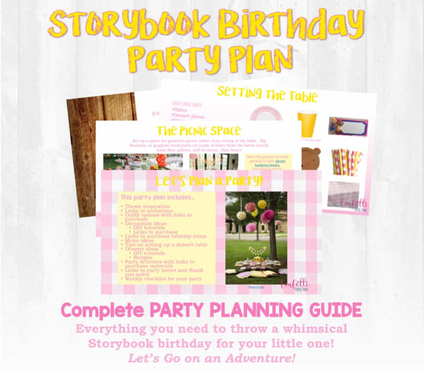 Once upon a time...there was a birthday! This party planning guide and checklist has everything you need to host a stress-free memorable Storybook themed birthday for your little one. This plan helps you save time, stress, and money so you can focus on what really matters- making memories and having fun at your party!