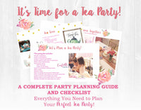 Garden Tea Party Plan