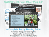 Things That Go Transportation Party Plan