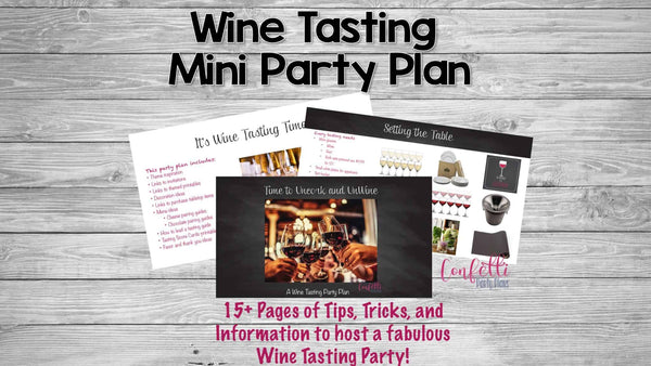 Wine Tasting Party Plan