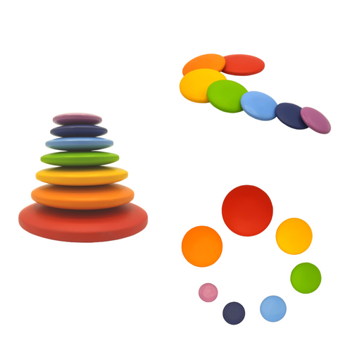 Wooden Pebble Stacker Different colours
