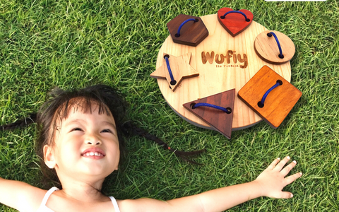 lacing and tracing toy wufiy wooden toys