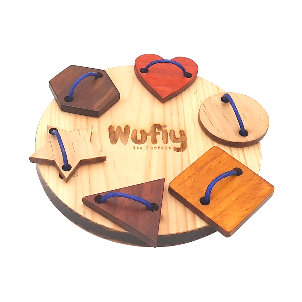 lacing wooden toy motor skill development