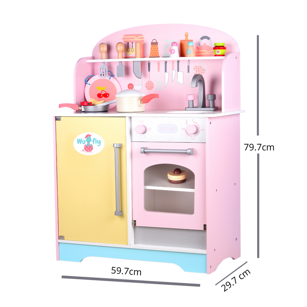 Wufiy Multicolour Kitchen Set With Accessories - Unisex, Pretend Play Toy