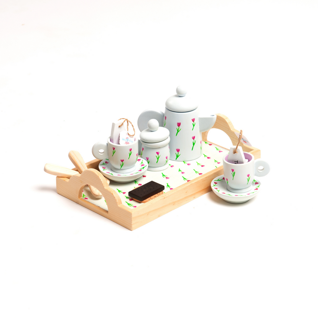 Victorian Wooden Tea Pot Set | Tea Party Set  | Pretend Play