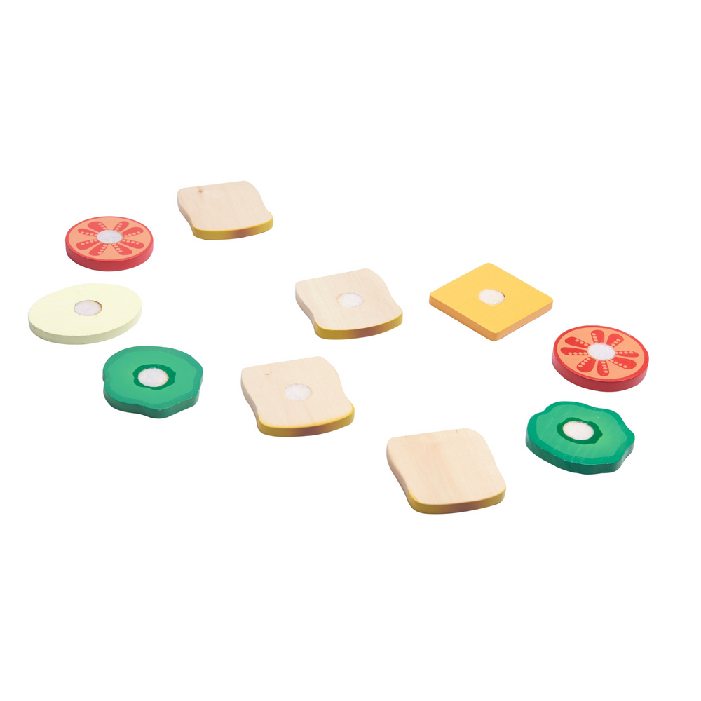 Wooden Sandwich & Burger Making Set