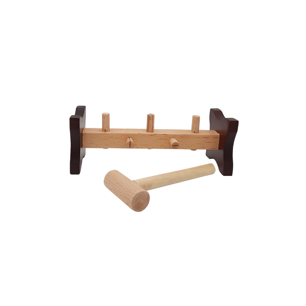 wooden hammer and peg toy toddler