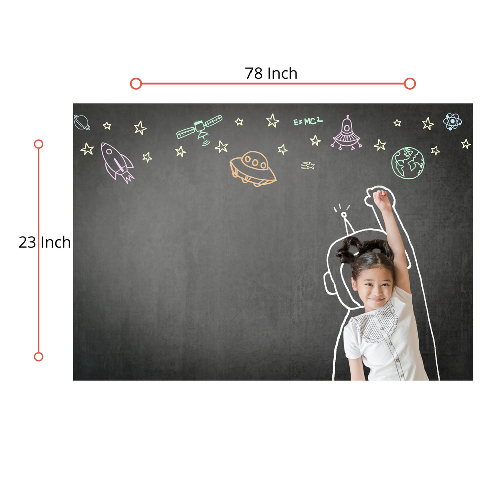 "Self - Adhesive Blackboard 78""X 23"", Waterproof"