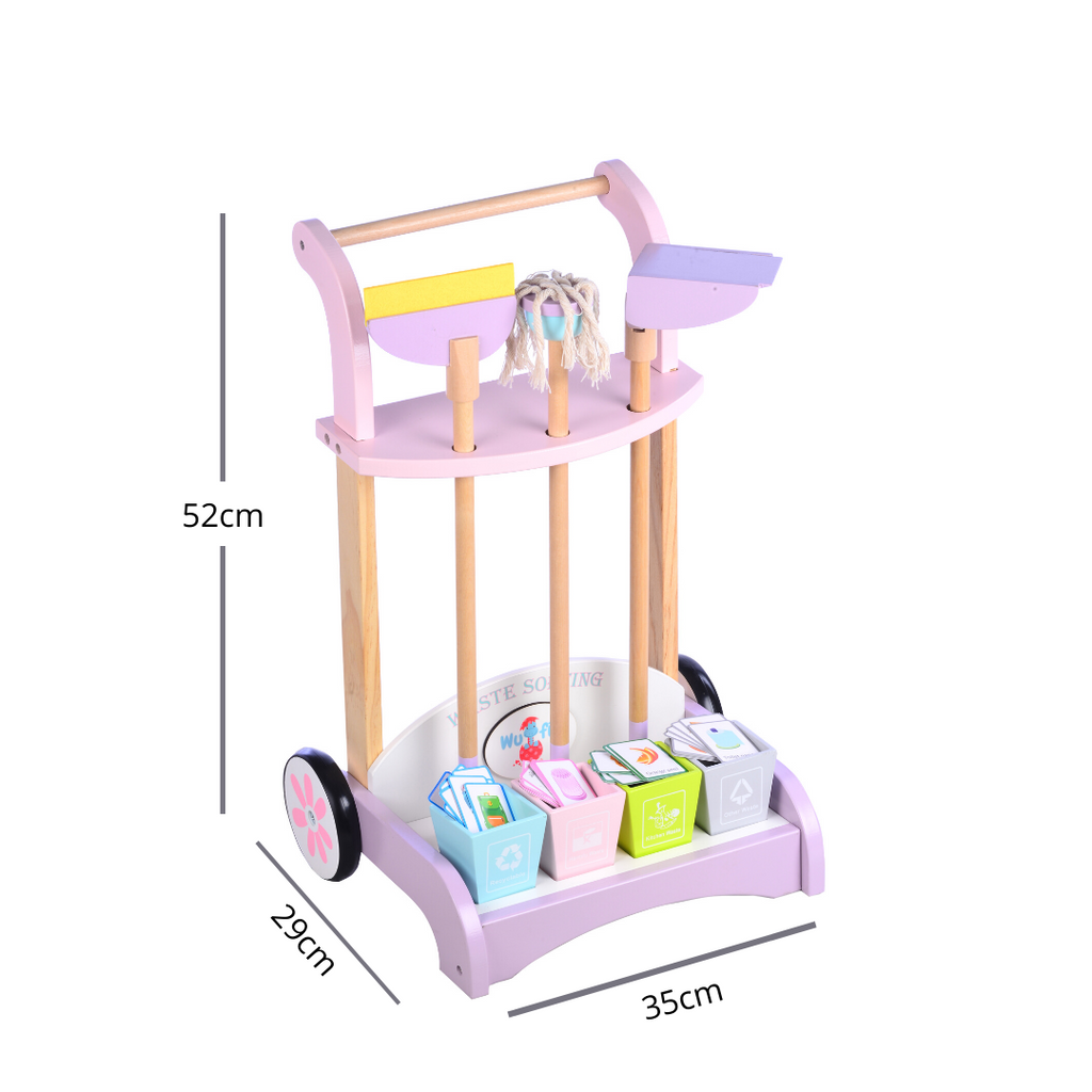 Wooden Cleaning Cart | Cleaning Set | Cleaning Trolley