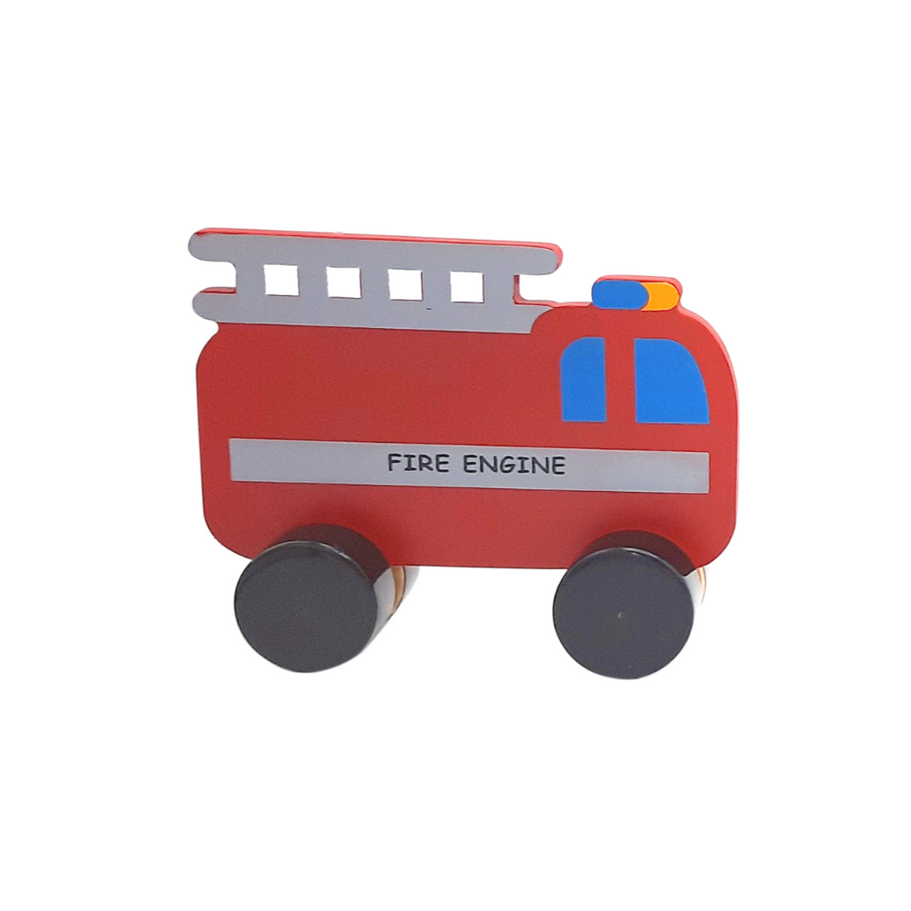 Set of 4 wooden vehicles - Hand Painted