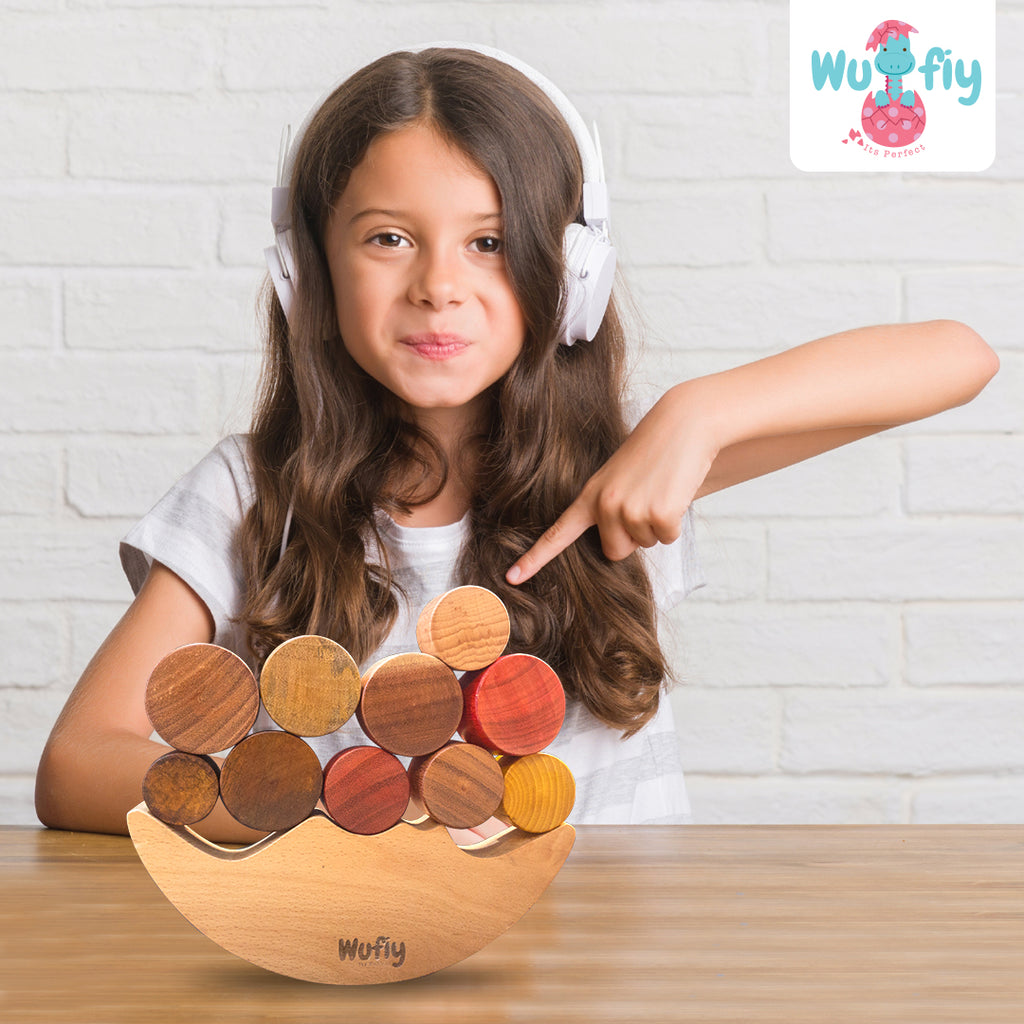 Wooden Moon Balancing Toy for Kids - Wufiy