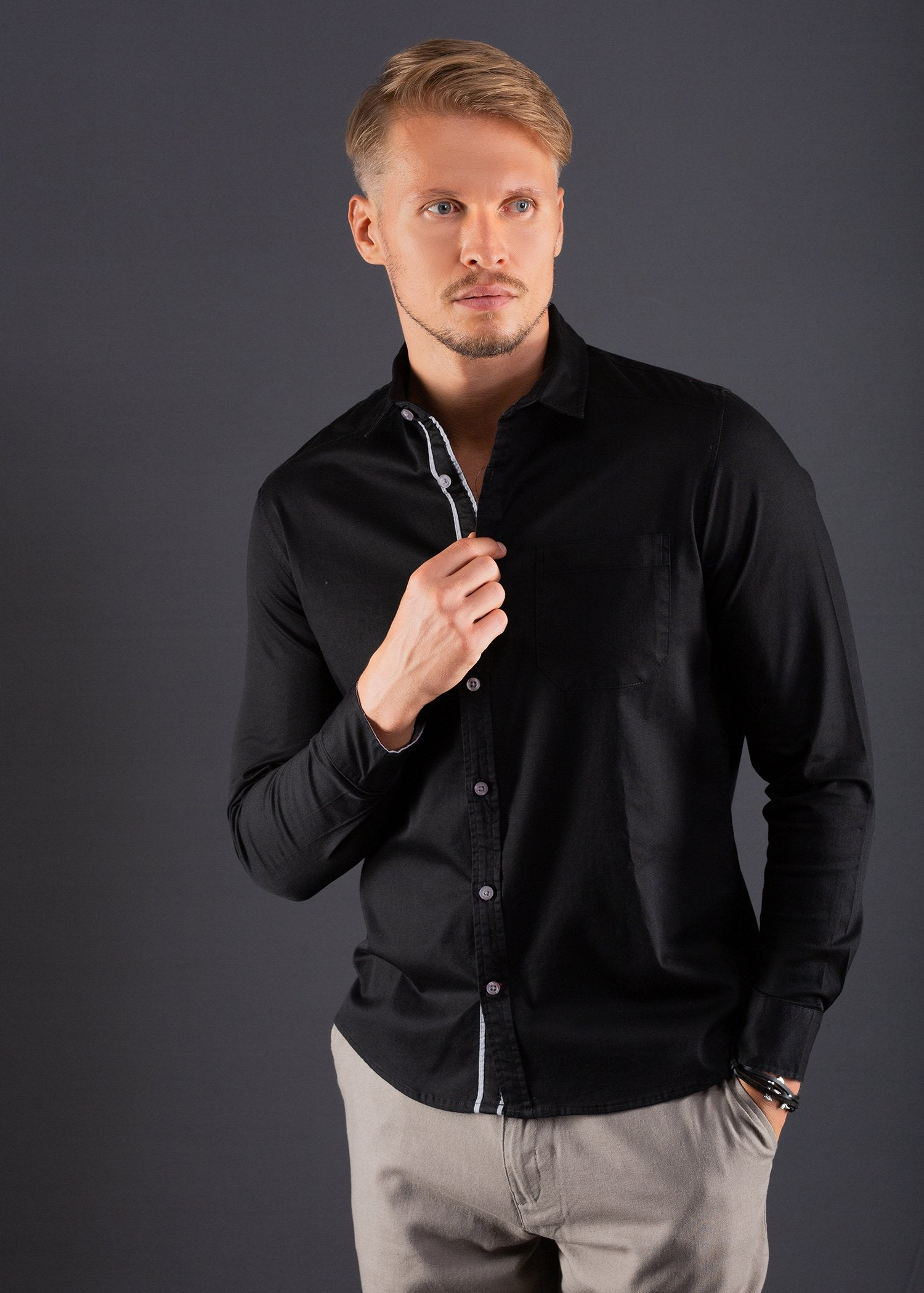 Detailed Casual Wear L/S Shirt