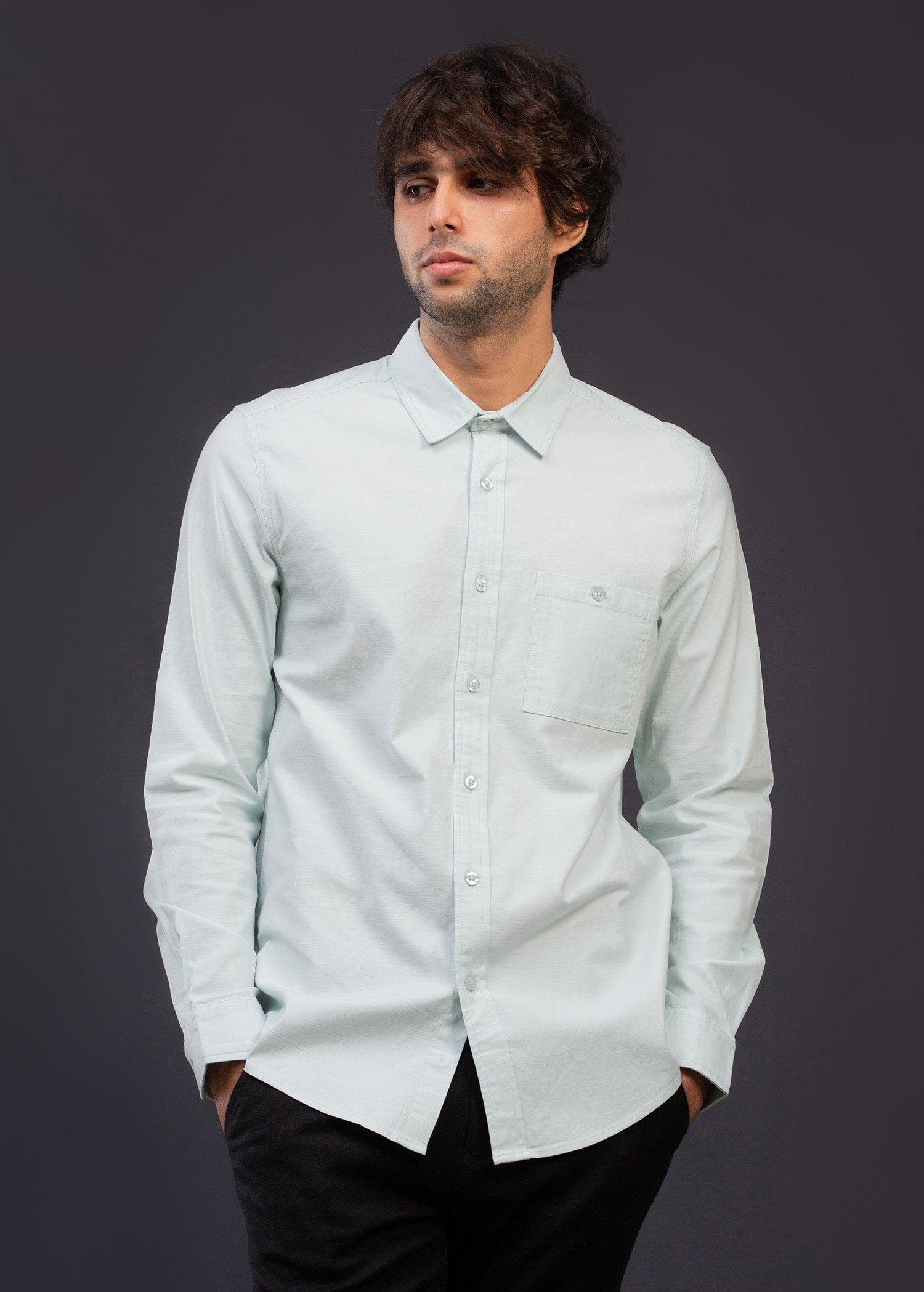 Casual Wear Detailed L/S Shirt